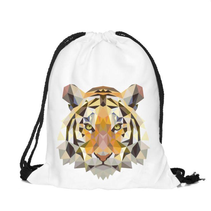 Tiger Draw String Bag £8 // Free UK Delivery  https://www.teeisland.co.uk/shop/tiger-draw-string-bag/