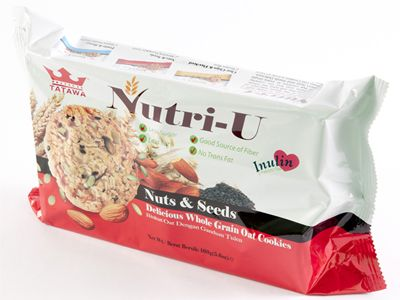 Nutri-U : Delicious Whole Grain Oat Cookies - Nuts & Seeds Code:TCP502