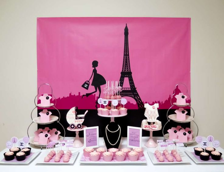 "Baby Shower ""Chanel Paris Themed Baby Shower"" 