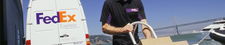 FedEx Express delivery vehicle and employee