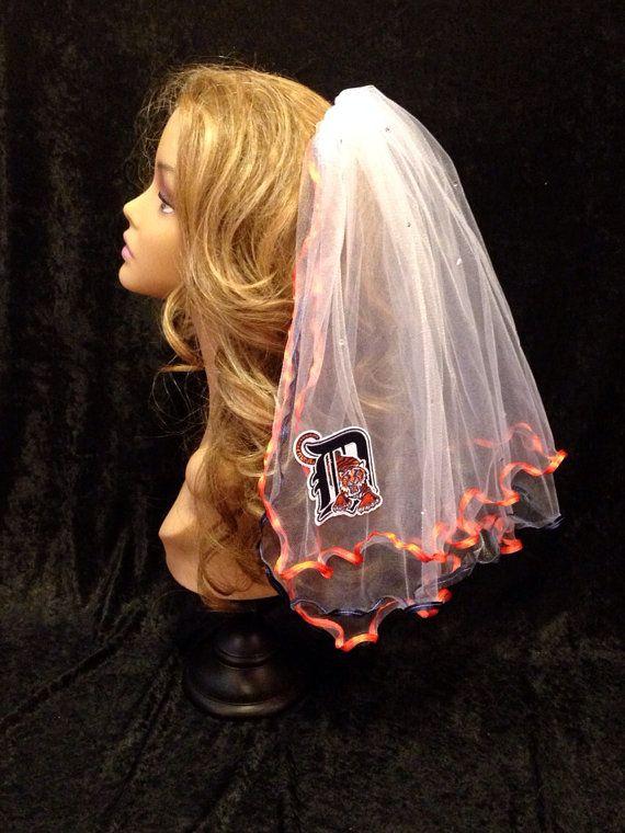 Detroit Tigers Bachelorette Veil by LaurenLashDesignsLLC on Etsy