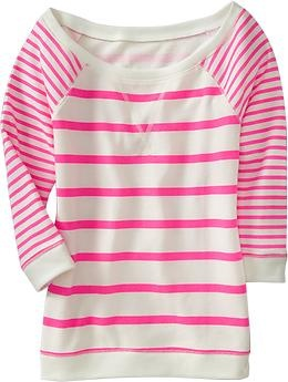 stripes stripes stripes: Neon Stripes, Pink Stripes, Dreams Closet, Bright Color, Terry Pullover, Stripes Tees, Old Navy, Neon Pink, French Terry