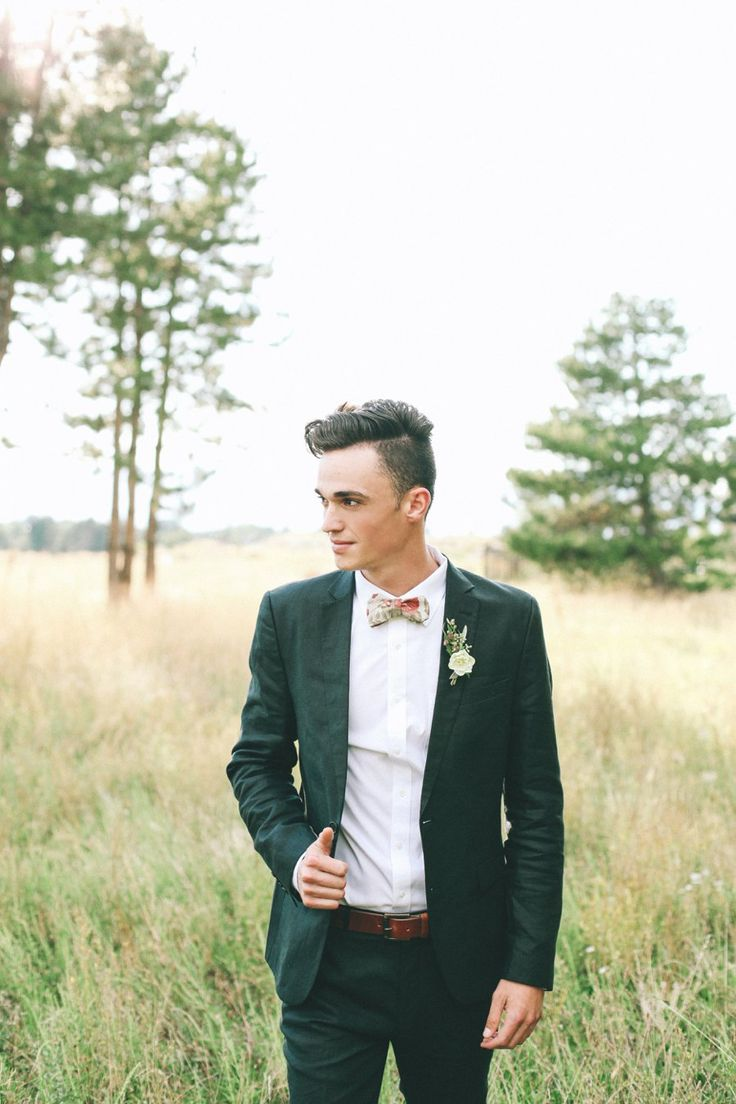 Groom in the woods. Perfect shot!
