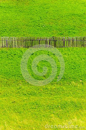 Old Fence Grass Landscape Copy Space - Download From Over 26 Million High Quality Stock Photos, Images, Vectors. Sign up for FREE today. Image: 45260911