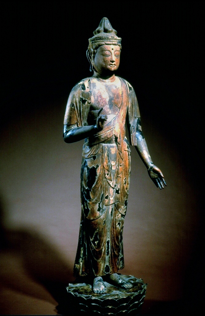 The Asian Art Museum is deeply saddened to hear of the heartbreaking, unspeakable tragedy in Newtown, Connecticut this morning. Our thoughts are with those who are suffering. Sho Kannon is one of the most popular deities in the Japanese Buddhist pantheon. He watches over humankind and extends his limitless compassion to all who suffer.