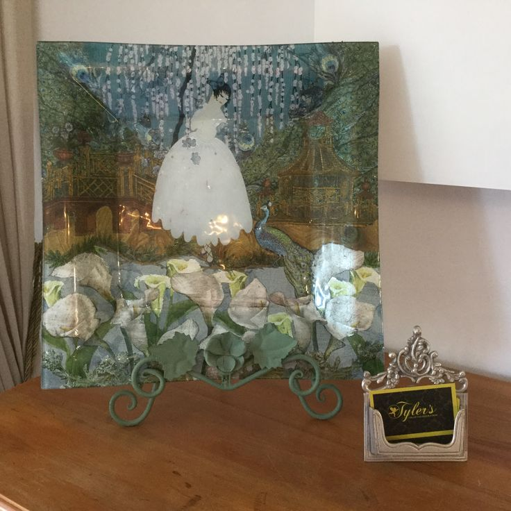 Tyler's Art student Susan William's decoupaged plate