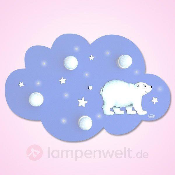 Putzige Deckenleuchte WOLKE EISBÄR mit LEDs sicher & bequem online bestellen bei Lampenwelt.de.