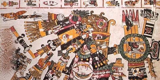 """Descarga completamente gratis el """"Códice Borgia""""  -  El Códice Borgia es uno de los más bellos manuscritos precolombinos, de los pocos aún prevalecientes. No se conoce el lugar exacto de origen de este códice, sin embargo, no hay duda que es originario de las altas tierras centrales de México (posiblemente cerca de Puebla o del Valle de Tehuacán), un área que estuvo bajo el régimen mexica en la era de la caída de Tenochtitlan. Obviamente este códice fue pintado antes de la llegada de los…"""