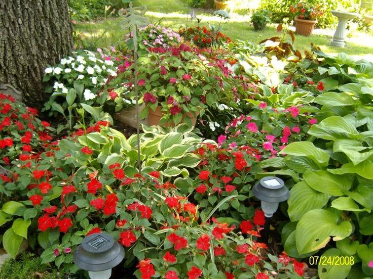 Partial shade garden ideas photograph found on for Part shade garden designs
