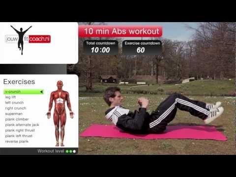 Buikspieren workout - YouTube