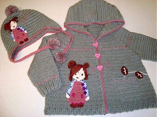 Detské oblečenie - Svetrík s dievčatkom-BIG SMILES - 1264032