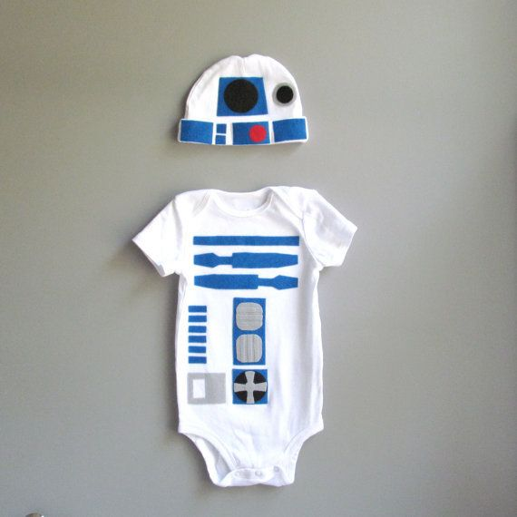 Omg How cute!!!! It's not a robot costume! Smh...it's R2D2!!!  Robot Baby Costume - Baby Clothes