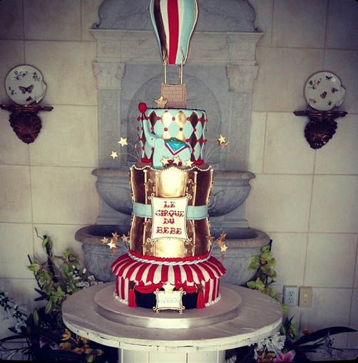 Vintage Traveling Circus Baby Shower for Amber Ridinger!