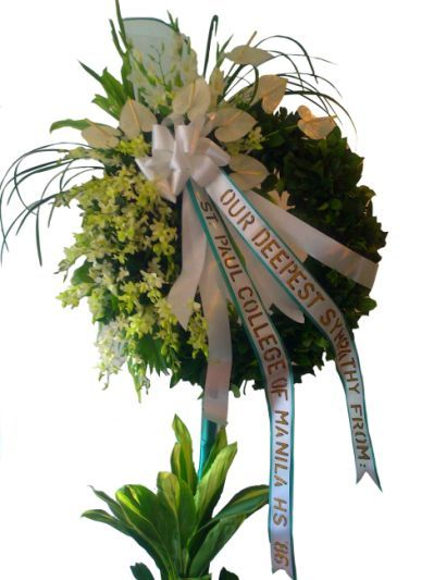 Sympathy Wreath 3 - Flowers and