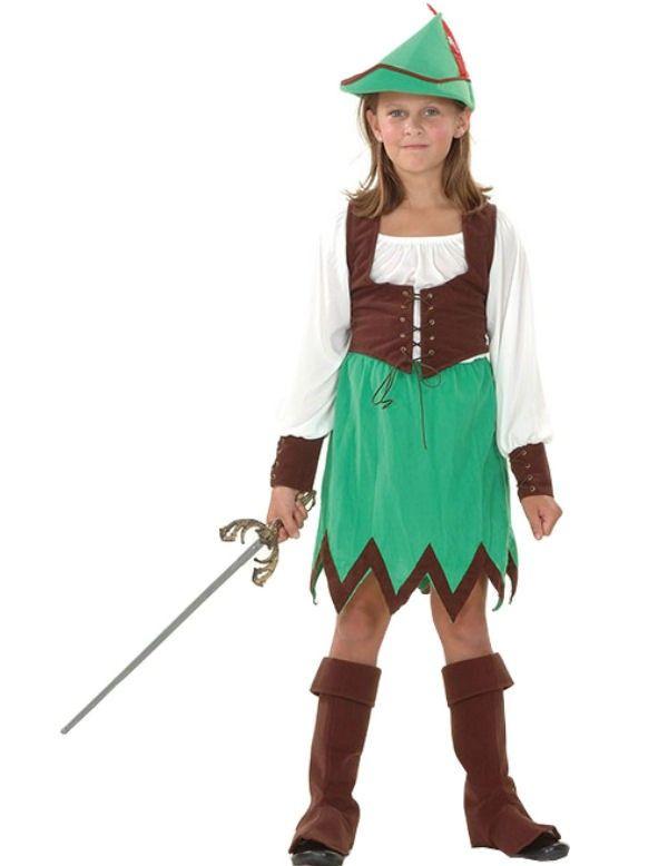 Robin Hood Meisje Kostuum ==> Feestkleding 365!