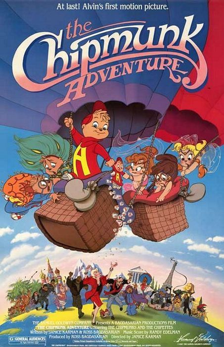 The Chipmunk Adventure - Possibly my favorite cartoon in the world. I own this on VHS and DVD. :)