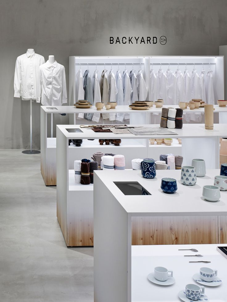 backyard by Nendo for seibu sogo department stores in japan. Paint wash over pine.