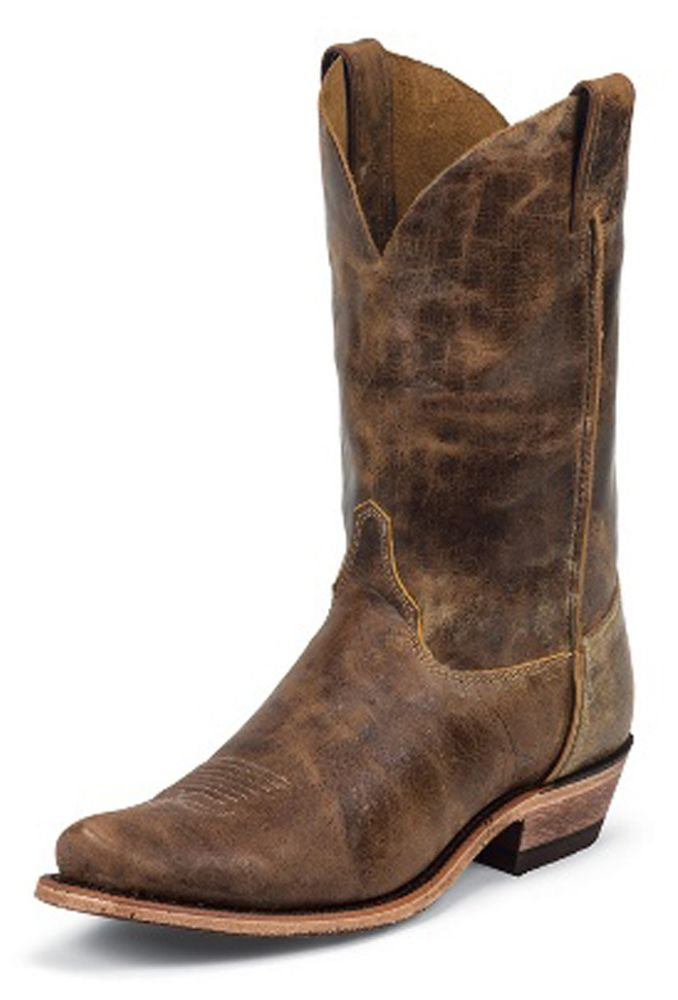 Men's Justin Boots Bent Rail Series Tan Road Cowboy Boots
