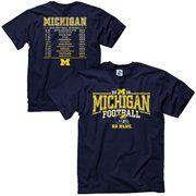 Michigan Wolverines 2014 Football Schedule T-Shirt - Navy Blue