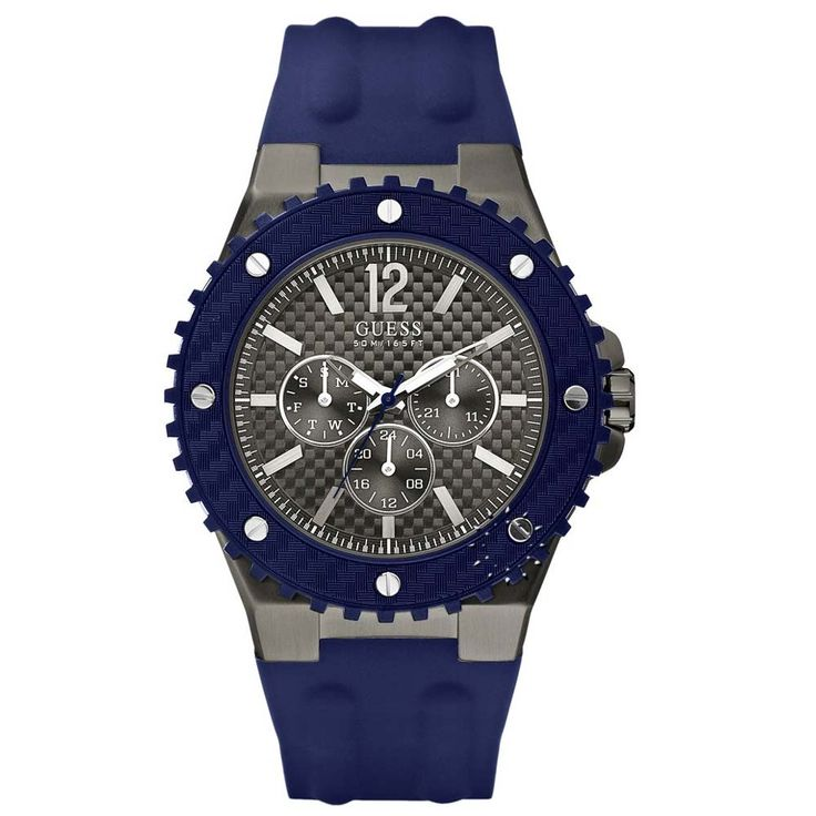 GUESS Overdrive Blue Rubber Strap Η τιμή μας: 143€ http://www.oroloi.gr/product_info.php?products_id=29272