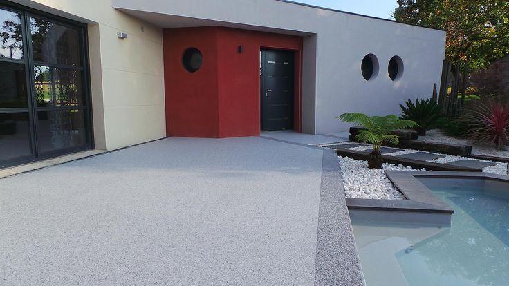 moquette de pierre revetement terrasse resine 3d matieres piscine pinterest revetement. Black Bedroom Furniture Sets. Home Design Ideas