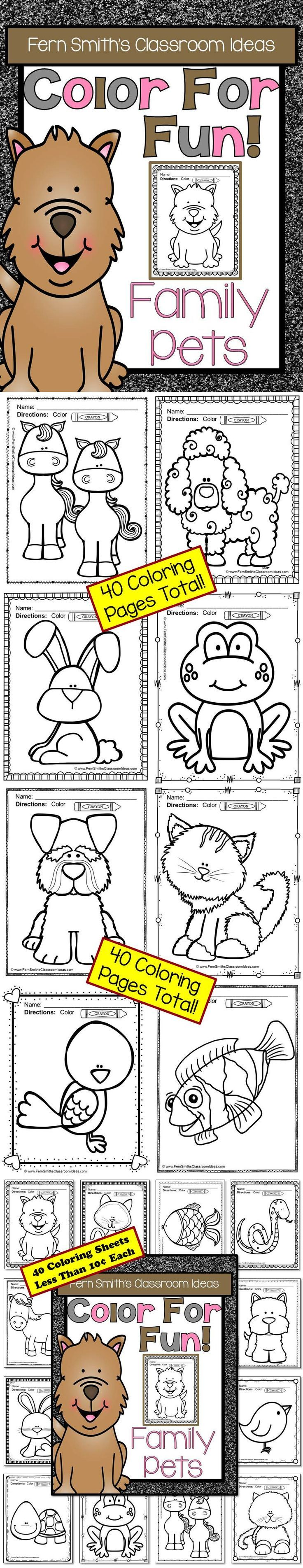 Free printable coloring pages veterinarians - Family Pets Coloring Pages
