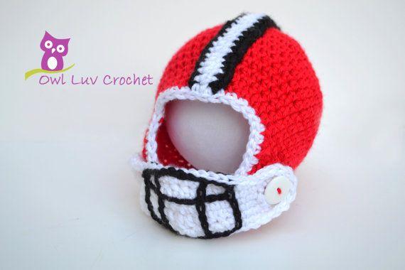 My Little Football Helmet Crochet Pattern by OwlLuvCrochet on Etsy, $5.00