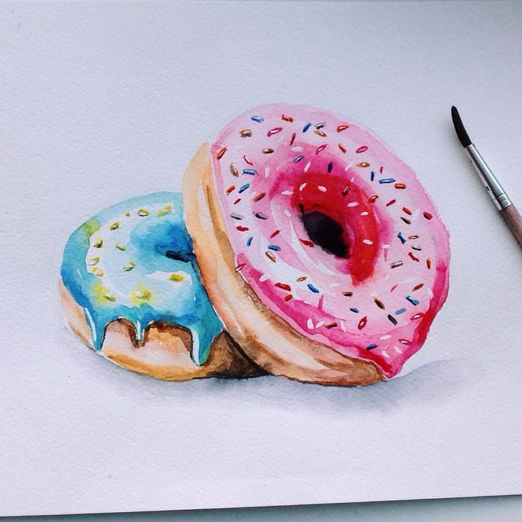пончики картинки для рисования сразу во-первых, пью