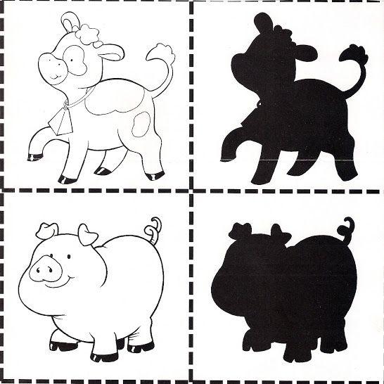 schaduw koe en varken