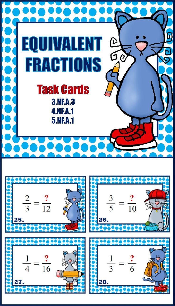 Equivalent Fractions Equivalent fractions, Basic math