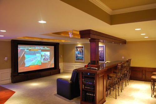 Furniture layout for home theater