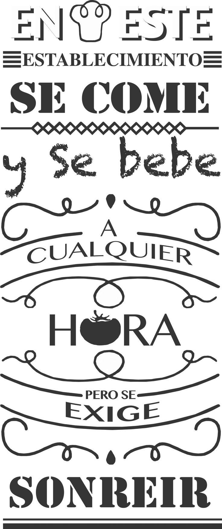 Trabajando En Vinilos Para Un Restaurante En Huertas By