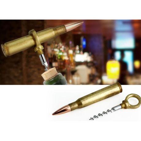本物の薬莢をリメイクしたコルクスクリュー Bullet Corkscrew|おもしろ輸入グッズ by Barbuzzo
