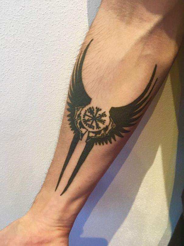 Unique Compass Sign Tattoos Viking Compass Forearm Viking Ta