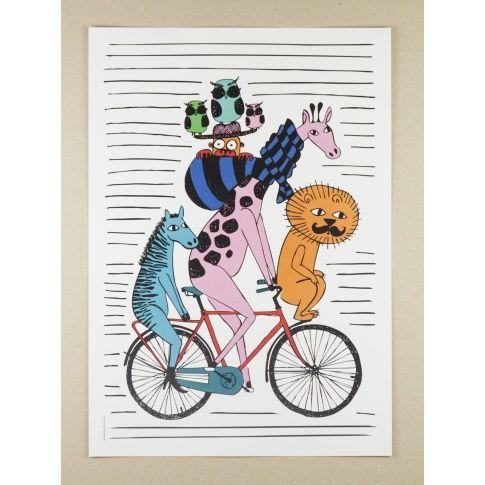 Plakat A3 Come Ride With Me - MagiaPolnocy.pl sklep w stylu skandynawskim. #muumuru