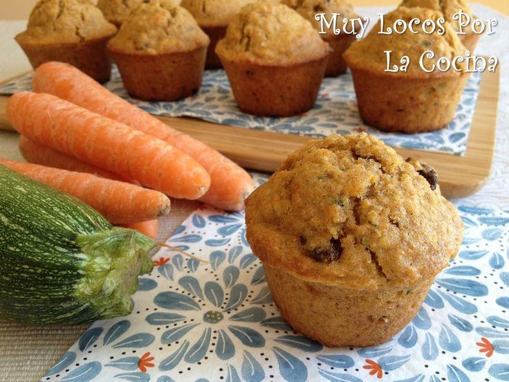 Twittear Estos muffins, además de estar muy ricos, son saludables. Son integrales, llevan avena y verduras y las grasas no ...
