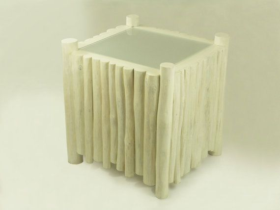 white bedside table square side table made of by FreeTreeStudio | see more at https://www.etsy.com/shop/FreeTreeStudio