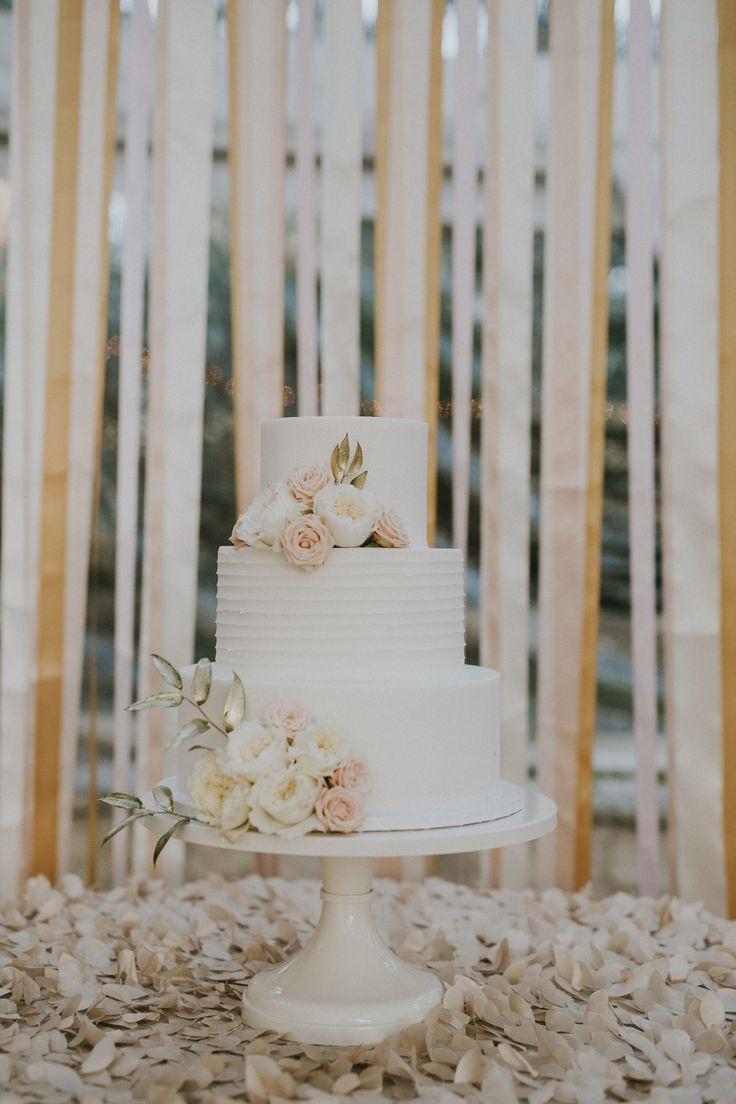 STEMS | Allan House Wedding | Pastel | Ribbon Wall | Wedding Cake | Austin | stemfloral.com | johndavidweddings.com | allanhouse.com
