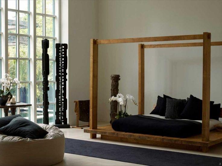 Schöne Schlafzimmer, Baldachin, Einrichtung, Wohnen, Zen Schlafzimmer, Zen  Wohnzimmer, Schwarze Schlafzimmer, Moderne Betten, Wohnküche