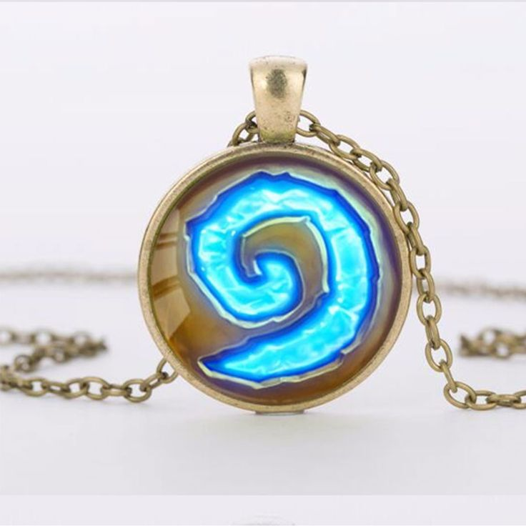 World of Warcraft Hearthstone Glass Round Pendant Necklace