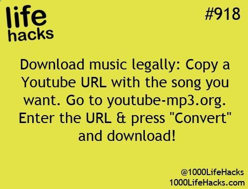 1000 Life Hacks...i actually did this!!! got some new music on my music player!