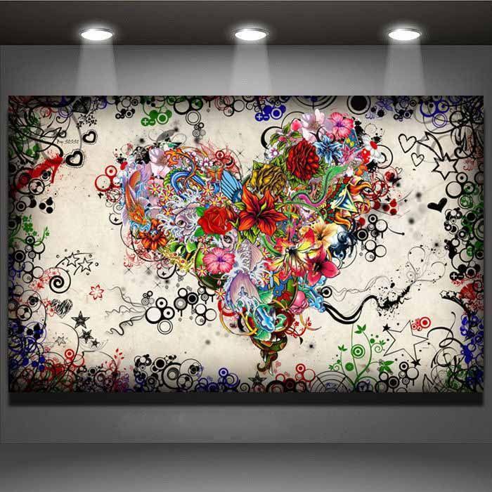 17 beste idee n over hart schilderij op pinterest hart kunst menselijk hart en hart schets - Idee schilderij living ...