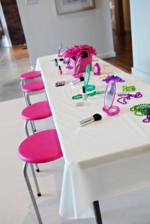 little girls party idea: hair & makeup