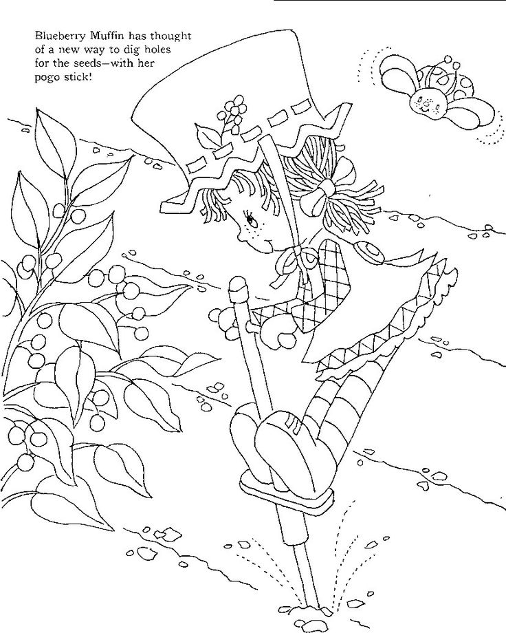 story book character coloring pages   Strawberry Shortcake's Storybook to Colour   Vintage ...