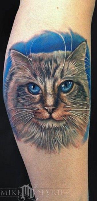 Tatuaje de la cara de un gatito