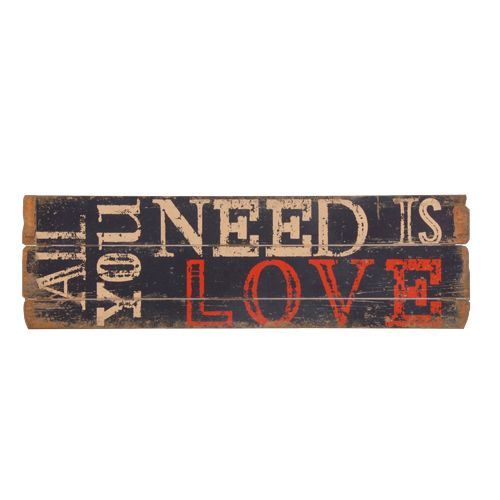 All you need is love shabby chic distressed plaque