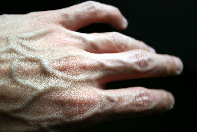 When I am creating the veins on my models hands I will refer to images such as this during the assessment. Materials I will use to represent this look will either be synwax and creams (for a 3D effect) or heavy contours using shadows. (which will be my time cutting alternative if necessary) This technique is relevant to my character as her skin will be sunken, declining and aged.