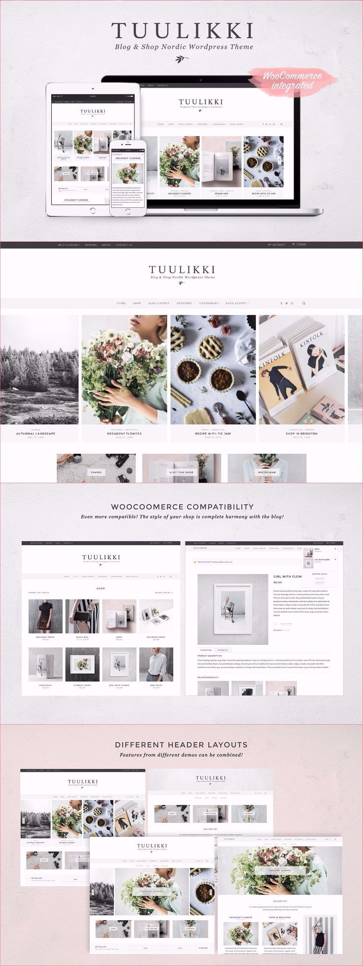 Tuulikki Wordpress Theme #wp #woocommerce #minimal #theme #template #ecommerce #blog #shop #nordic