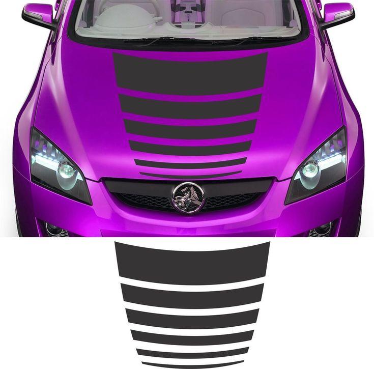 "VINYL GRAPHICS DECAL STICKER RACING HOOD STRIPE CAR AUTO TRUCK 6STP-16 20"" x 48"" #FDC"
