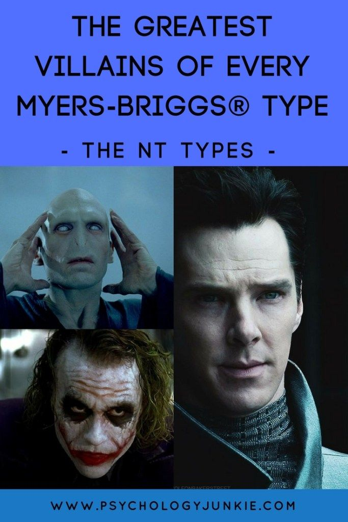 The Greatest Villains of Every Myers-Briggs Type - Part 2